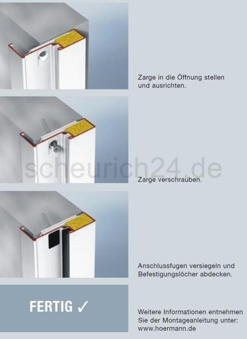 Unterschied eckzarge umfassungszarge  Hörmann T30-1 H3 OD einflügelige » Scheurich24.de
