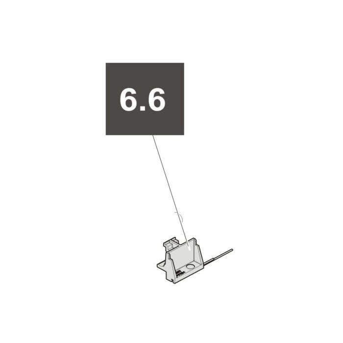 "6.6 Sommer Reedsensor ""Tor ZU"", Kabel Blau, Twist XL"