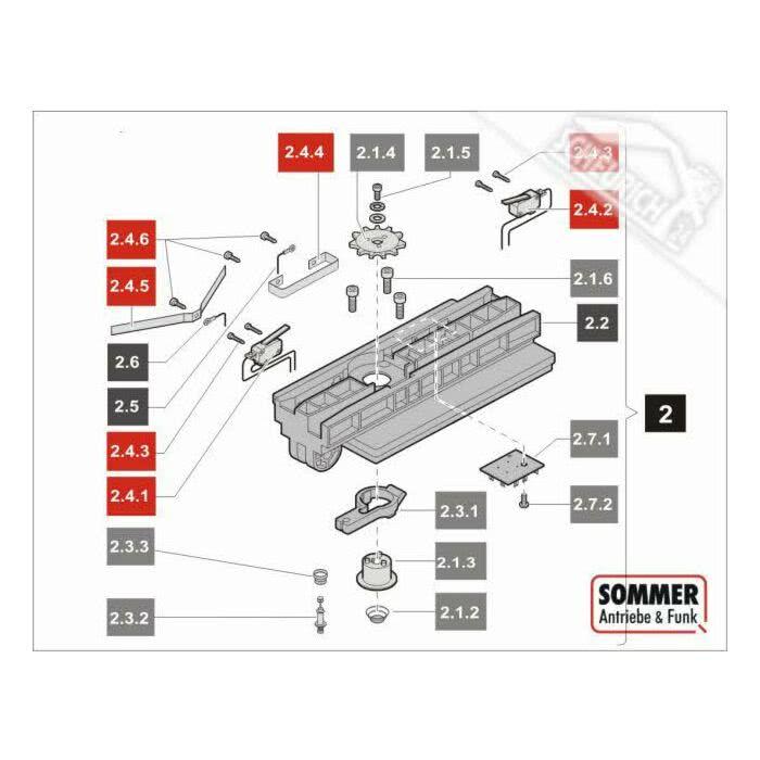 Sommer Garagentorantrieb Duo Vision 800 mit Schiene