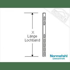 Lochbänder in verschiedenen Längen, für Normstahl Schwingtor SWT bis 3000 mm