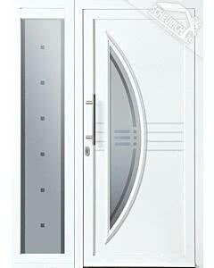 Gealan Kunststoff Haustüre KT74 Modell Nr. 22, Bild zeigt Türe mit Seitenteil. Seitenteil gegen Mehrpreis erhältlich.