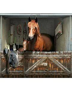Garagentorplane Pferde Box