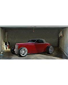Garagentorplane Red Hot Rod