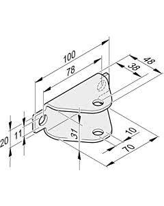 Sommer Torflügelbeschlag feuerverzinkt für Twist 200 E/EL