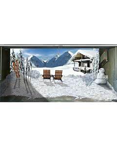 Garagentorplane Skihütte