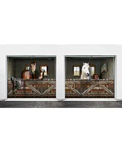 Mehrfach-Garagentorplane Pferdebox