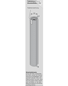 Hörmann Torsionsfeder Nr R 312 mit Kunststoffrohr für Industrie-Sektionaltor