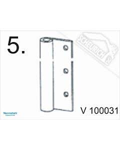 5 - Scharnierteil für Normstahl Seitensektionaltor SST bis Baujahr 04/1996, für Tragrolle V100150