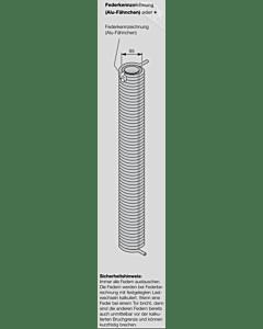 Hörmann Torsionsfeder Nr R 128 mit Kunststoffrohr für Industrie-Sektionaltor