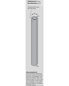 Hörmann Torsionsfeder Nr R 129 mit Kunststoffrohr für Industrie-Sektionaltor