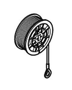 Normstahl Entrematic Seiltrommel links mit Seil