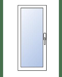 Scheurich Aluminium Balkontür 1-flügelig - RAL 9016