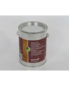 Abbildun zeigt: Biofa AQUALUX Decklack - weiß seidenglänzend, lösemittelfrei Innen 2,5 Liter