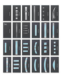 Scheurich Aluminium Haustür ISO-65 - Wählen Sie Ihr Tür Motiv