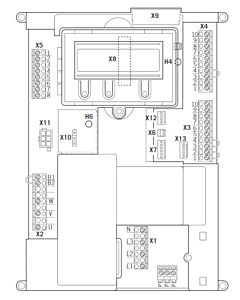 Teckentrup Steuerungsplatine für CS300-FU 230V 1Ph für SW, SW 40, SW 80, SLW