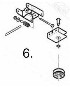 6 - Umlenkung mit Rolle für Normstahl Akku Plus Garagentorantrieb