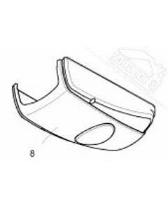 8 - Antriebshaube mit Blende für Normstahl Akku Plus Garagentorantrieb