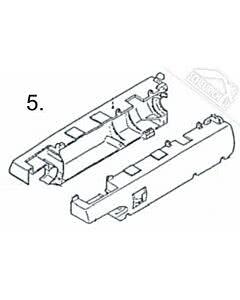5 - Motorgehäusedeckel mit Schrauben für Normstahl Elegant 400 Drehtorantrieb