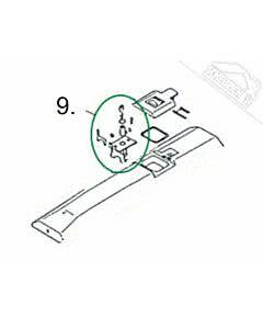 9 - Entriegelungseinheit für Normstahl Elegant 400 Drehtorantrieb