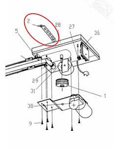 2 - Lochband für Normstahl Tandem, Mono Garagentorantrieb