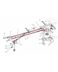 Führungsrohr 30 x 1 verjüngt und gelocht für Mittelabhängung für Normstahl Mono Garagentorantrieb