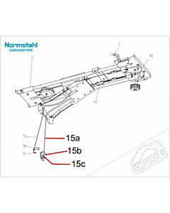 15c - Schraubnippel, 6 x 9 mm für Normstahl Tandem Garagentorantrieb