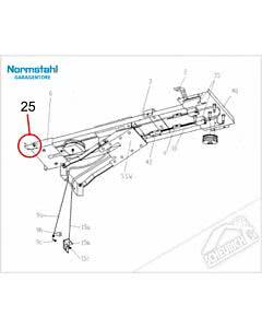 25 - Aufhängewinkel für Sturzbefestigung für Normstahl Tandem Garagentorantrieb