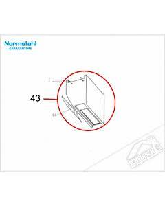 43 - Haube SST, anthrazitfarben für Normstahl Tandem Garagentorantrieb
