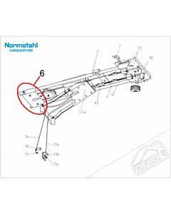 6 - Gegenlager für Normstahl Tandem Garagentorantrieb