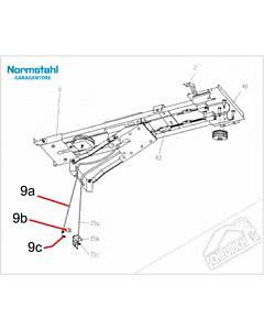 9c - Schraubnippel, 6 x 9 mm für Normstahl Tandem Garagentorantrieb
