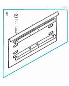 1 - Grundplatte mit Schrauben