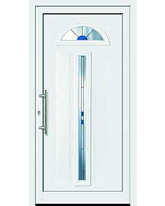 Feba Novotherm Kunststoff Haustüre Modell 502, weiß, mit Glas Ornament C