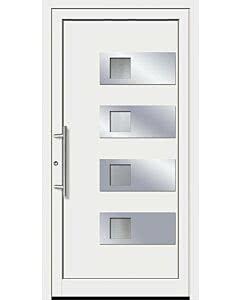 Feba Kunststoff Haustüre KU 110 RAL 9016 weiß