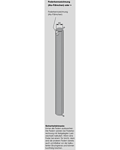 Hörmann Torsionsfeder Nr R 52 für Industrie-Sektionaltor