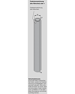 Hörmann Torsionsfeder Nr L 210 mit Kunststoffrohr für Industrie-Sektionaltor
