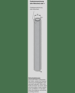 Hörmann Torsionsfeder Nr R 111 mit Kunststoffrohr für Industrie-Sektionaltor