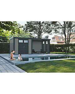Wolff Finnhaus Eleganto 2724 mit Lounge Anbau inkl. 2 Fenstern