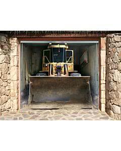 Gargentorplane Bagger montiert in Sandsteinoptik
