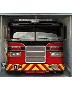 Garagentorplane Feuerwehrauto