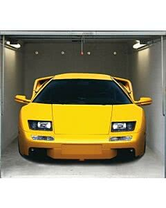 Garagentorplane Yellow Sports Car