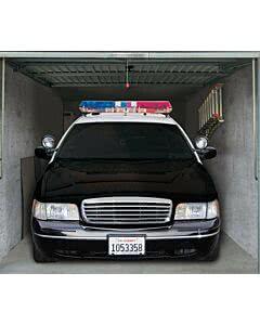 Garagentorplane Police Car