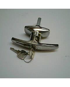 Normstahl Schloss oval mit Zylinder und Schlüssel