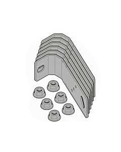 Hörmann Element mit Umfassungszarge, Dübelmontage, Einbau in Wände aus Mauerwerk, geputzt, Befestigungslaschen Dübellaschenset für U-Zarge (Default)  Zurück Zurücksetzen Löschen Duplizieren Speichern Speichern und weiter bearbeiten