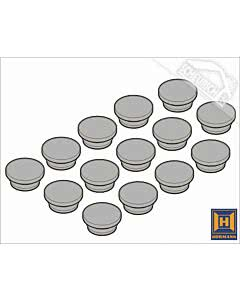 Hörmann Abdeckkappen A11 Durchmesser = 16,8 mm (14 Kappen) für Element mit Umfassungszarge für verdeckte Montage in Sichtbetonwände und Sichtmauerwerk  Element mit Blockzarge Typ 1, Einbau in der Öffnung