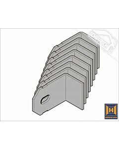 Hörmann Element mit Eckzarge und Ergänzungszarge, Einbau in Sichtbetonwände und Sichtmauerwerk, Befestigungslaschen für Ergänzungszarge Zubehör Anschweißlasche Gegenzarge Z52-8 (8 Laschen)