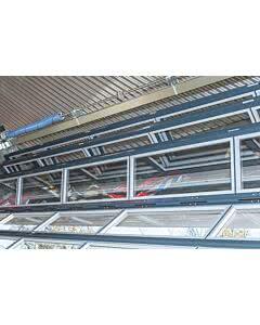 Scheurich Hebefalttor verglast Aluminiumprofilen eloxiert und inkl. Antrieb