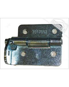 Hörmann Scharnierrollenhalter LPU links (von innen gesehen) aus Stahl - ohne Exzenter, ohne Laufrolle (Ersatzteile Tore)