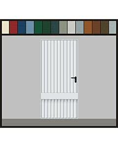 Hörmann Garagen-Nebentüre Motiv 941, glatt, Eckzarge, ansichtsgleich zu Hörmann Schwingtoren aus Stahl
