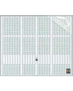 Hörmann Berry Schwingtor N80 Motiv 914 - glatte Oberfläche - Farbe weiß