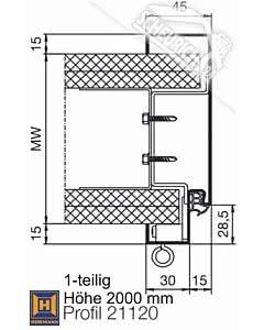 Sonderposten Hörmann Umfassungszarge DIN 18111 für Ständerwerk 1-teilig, Höhe 2000 mm, verschiedene Breiten und Maulweiten wählbar